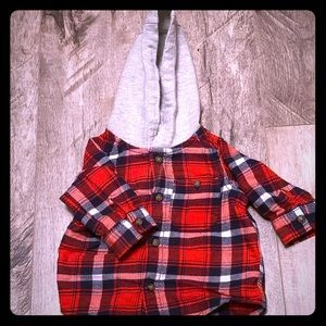 0-3 month baby boy flannel